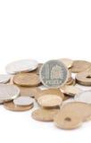 Peseten (spanisches vor-Eurobargeld) (Vertikale) Stockfotos
