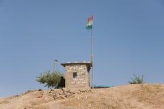 Peshmerga Kurdish military post Stock Photo