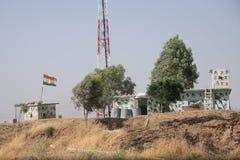 Peshmerga Kurdish military post Stock Photos