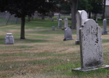 Peshtigo Fire Cemetery Tombstones Royalty Free Stock Images