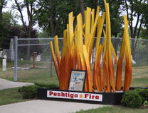 Peshtigo Fire Museum Sculpture Royalty Free Stock Photography