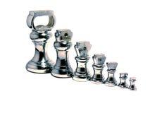 Pesi d'argento Fotografia Stock Libera da Diritti