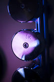 Pesi di Dumbell nella palestra di forma fisica Fotografia Stock Libera da Diritti