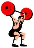 Pesi di sollevamento del Weightlifter Immagine Stock