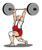 Pesi di sollevamento di Weighlifter illustrazione di stock