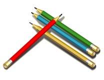 Pesils, modèle de vecteur avec le fichier du vecteur ENV illustration stock