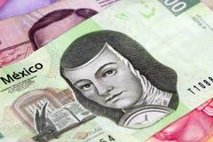 Peso Bill du Mexicain deux cents Photo libre de droits