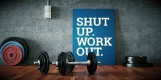 Peso com placas pretas em um assoalho do gym ilustração do vetor