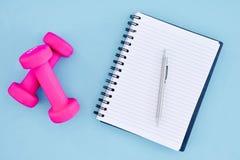 Peso cor-de-rosa do Gym Fotos de Stock Royalty Free