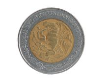 Peso da moeda cinco Imagem de Stock