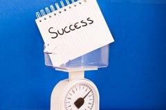 Peso de éxito, de pros del balance y de contra de medición Imagen de archivo