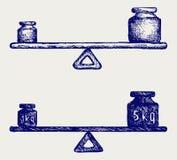 Peso de equilíbrio ilustração stock