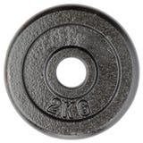 Peso de la pesa de gimnasia Foto de archivo libre de regalías
