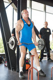 Peso de levantamento do homem forte no campeonato Foto de Stock