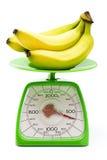 Peso de medición del plátano Imagen de archivo libre de regalías