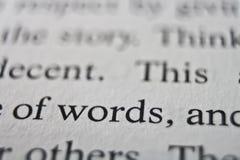 Peso de palabras Foto de archivo libre de regalías