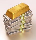 Peso de papel dos ricos Imagens de Stock Royalty Free