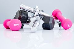 Peso de prata do Gym Imagens de Stock Royalty Free