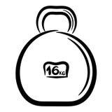 Peso del metal de la historieta para los deportes. eps10 Imagen de archivo