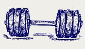 Peso di dumbbell di abbozzo illustrazione vettoriale