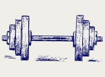 Peso di dumbbell di abbozzo illustrazione di stock