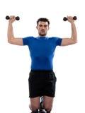 Peso do homem que treina a postura de Worrkout fotos de stock