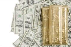 Peso do valor no ouro Imagens de Stock Royalty Free