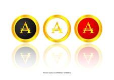 Peso gold symbol Stock Image