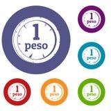 Peso icons set Royalty Free Stock Photo