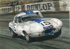 Peso leggero E tipo di Jaguar (XKE) illustrazione di stock