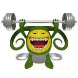 Peso-levantador verde del monstruo ilustración del vector