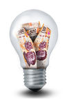 Peso Lightbulb Royalty Free Stock Image