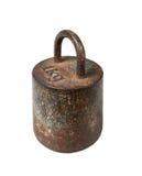 Peso métrico del hierro viejo, 1 kilogramo Fotos de archivo