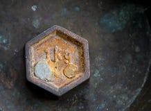 Peso oxidado del vintage para una escala de la balanza fotos de archivo libres de regalías