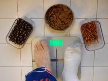Peso perdidoso después de 40 Fotografía de archivo libre de regalías