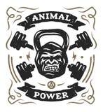 Peso principal del gorila diseño de la camisa Foto de archivo libre de regalías
