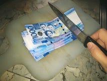1000 peso'srekeningen Stock Fotografie