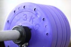 Peso violeta Peso para esportes Peso pesado imagem de stock