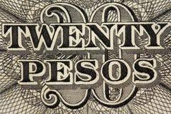 Peso Zwanzig Stockfotos