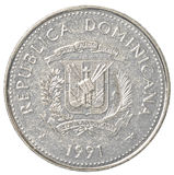 25-Pesocentavo-Münze der Dominikanischen Republik stockfoto