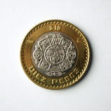 Münze mit 10 Pesos. Lizenzfreies Stockbild