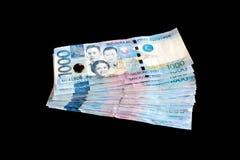 Pesoräkning för 1000 Filippinerna Royaltyfria Foton