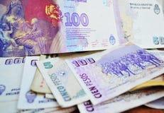 Pesos argentins Photos libres de droits