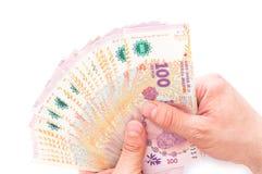 Pesos argentins, dénominations élevées Photo libre de droits