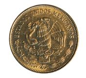 50 Pesos (Benito Juarez) coin issued on 1984. Bank of Mexico. Re. Verse, 1985 Royalty Free Stock Photo