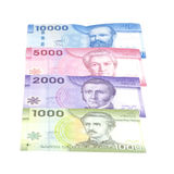 Pesos chilenos de varios colores fotografía de archivo libre de regalías