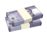 Pesos chilenos isolados no fundo branco Foto de Stock Royalty Free