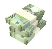 Pesos chilenos isolados no fundo branco Fotos de Stock Royalty Free