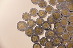 Pesos coins background Royalty Free Stock Image