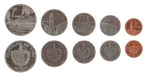 Pesos convertíveis cubanos isolados no branco Foto de Stock Royalty Free